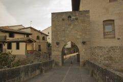 Camino de Santiago from Pamplona to Puente la Reina stock images
