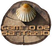 Camino de Santiago - símbolo del peregrinaje Imagen de archivo