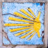 Camino de santiago sign. Sign of Camino de santiago Royalty Free Stock Photography