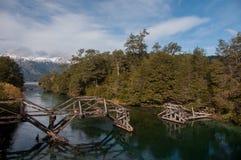Camino de siete lagos en la angostura del la del chalet, la Argentina Fotos de archivo libres de regalías