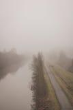 Camino de sirga al lado del río Foto de archivo libre de regalías