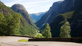 Camino de Stalheimskleiva en Noruega Fotos de archivo libres de regalías