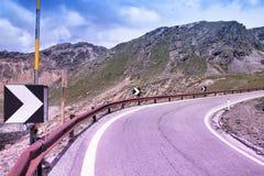 Camino de Stelvio, Italia imagen de archivo