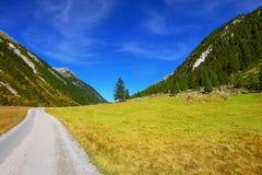 Camino de tierra ancho Foto de archivo libre de regalías