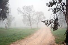 Camino de tierra en la niebla. Fotos de archivo libres de regalías