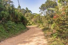 Camino de tierra en las montañas, Honduras imagen de archivo libre de regalías