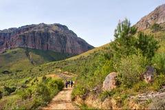 Camino de tierra en montañas foto de archivo