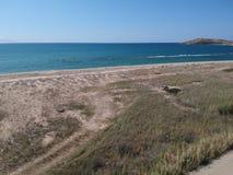 Camino de tierra y mar foto de archivo