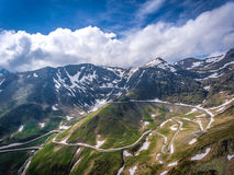 Camino de Transfagarasan en la opinión panorámica de Transilvania Rumania, EUR Fotos de archivo
