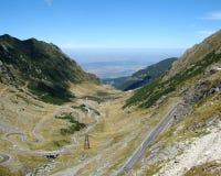 Camino de Transfagarasan en la Rumania foto de archivo libre de regalías