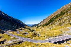 Camino de Transfagarasan en Rumania Foto de archivo libre de regalías