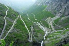 Camino de Trollstigen Imagenes de archivo