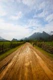 Camino de Vang Vieng Imágenes de archivo libres de regalías