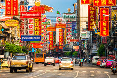 Camino de Yaowarat, Bangkok Fotos de archivo