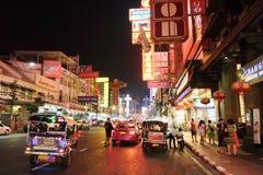 Camino de Yaowarat en la noche Fotografía de archivo libre de regalías