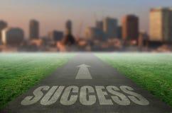 Camino del éxito Foto de archivo