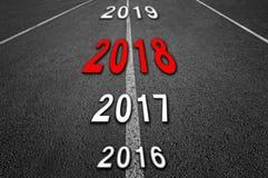 Camino del Año Nuevo 2018 Fotografía de archivo libre de regalías