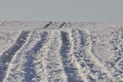 Camino del campo Nevado Fotos de archivo