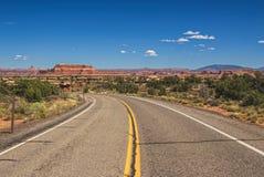 Camino del carril del desierto 2 Fotografía de archivo libre de regalías