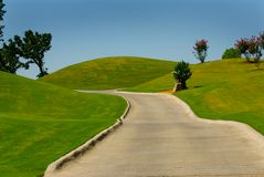 Camino del carro de golf Fotografía de archivo