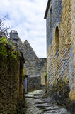 Camino del castillo de Beynac Imagenes de archivo
