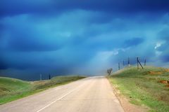Camino del coche Fotografía de archivo