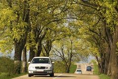 Camino del coche del tráfico Imagen de archivo