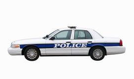Camino del coche policía w/clipping Fotos de archivo libres de regalías