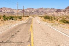 Camino del desierto a Oatman Fotografía de archivo