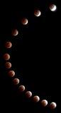 Camino del eclipse lunar Imagenes de archivo