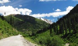 Camino del estado de Sichuan Tíbet Fotografía de archivo libre de regalías