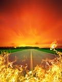Camino del fuego fotografía de archivo libre de regalías