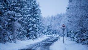 Camino del hielo Foto de archivo libre de regalías