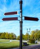 Camino del indicador Imagen de archivo libre de regalías