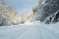 Camino del invierno Fotos de archivo libres de regalías