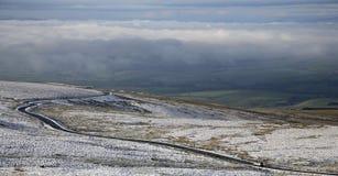 Camino del invierno de Cumbria Fotos de archivo libres de regalías
