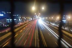 camino del @Jakarta del tráfico Fotografía de archivo libre de regalías