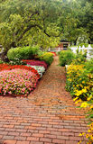 Camino del jardín del ladrillo Imagen de archivo