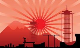 Camino del ninja stock de ilustración