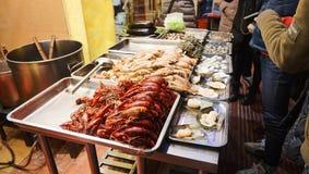 Camino del oeste de Nanjing del restaurante del marisco Fotografía de archivo