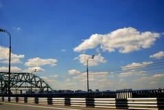 Camino del puente lejano Foto de archivo