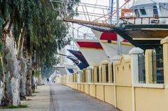 Camino del puerto deportivo foto de archivo libre de regalías