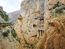 Camino del Rey royaltyfri foto