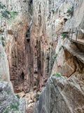 Camino del Rey royaltyfria bilder