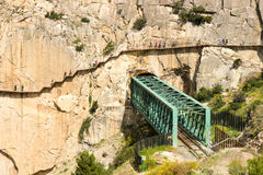 Camino del Rey Royalty Free Stock Images