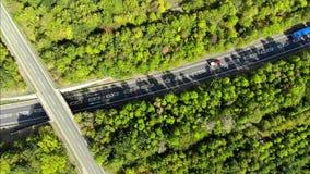 Camino del St Neots A428 almacen de metraje de vídeo