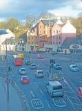 Camino del sur de Inverness que muestra límites de velocidad. Imágenes de archivo libres de regalías