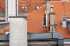 Camino del tetto Fotografia Stock