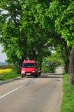 Camino del transporte del coche Foto de archivo