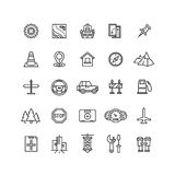 Camino del vector, línea auto iconos libre illustration